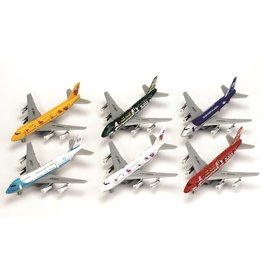 Die Cast AVION 747 ASSORTIS À RÉTROFRICTION