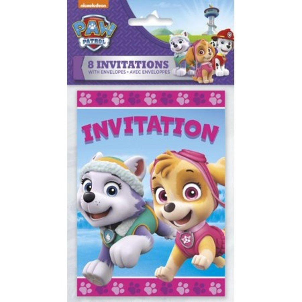 Unique 8 Cartes d'invitation de la Pat Patrouilles