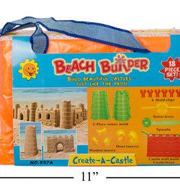 Ctg Brands Ensemble de moules pour château de sable 18 pièces