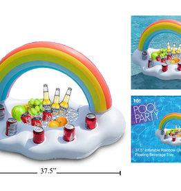 Pool Party Plateau de boisson flottant gonflable Arc-en-ciel
