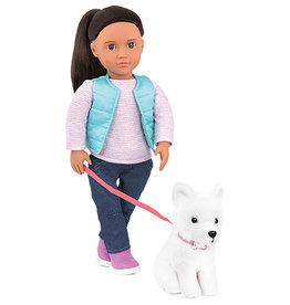 Our Generation Poupée Cassie avec chien