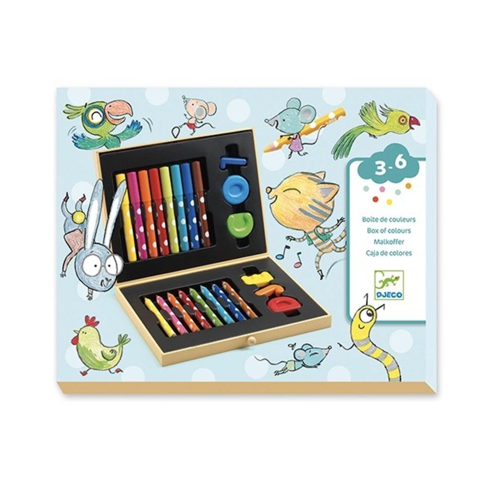 Djeco Boite de couleurs pour les petits