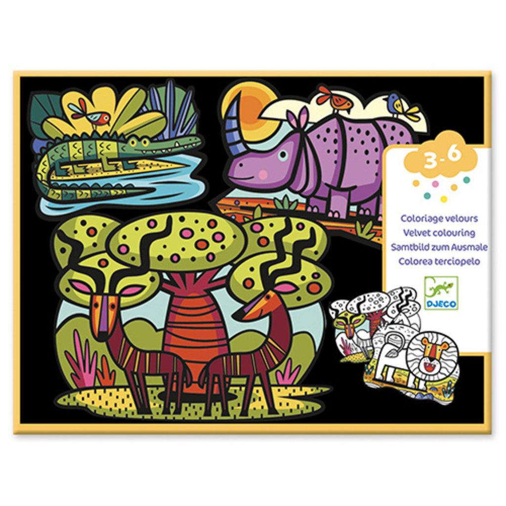 Djeco Coloriage pour les petits Animaux de la savane