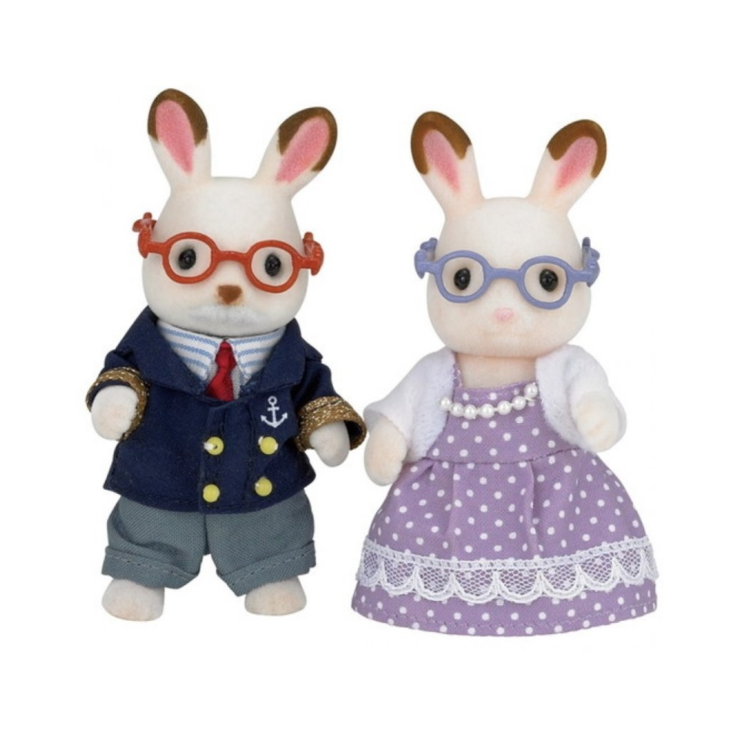 Calico Critters Grand-parents Lapins Hopscotch