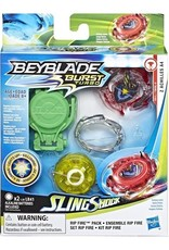 Hasbro Kit de départ Beyblade Burst Slingshock Rip Fire Z Achilles A4