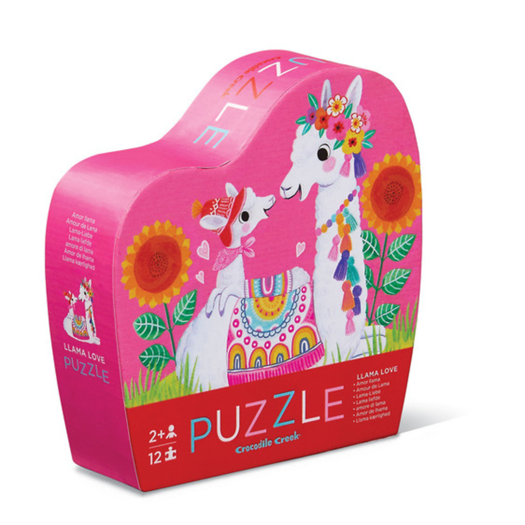 Crocodile Creek Mini puzzles lama love 12 pièces