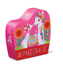 Crocodile Creek Mini puzzles lama love 12 pièces