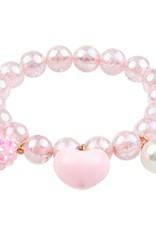 Great Pretenders Bracelet bobble en cœur rose