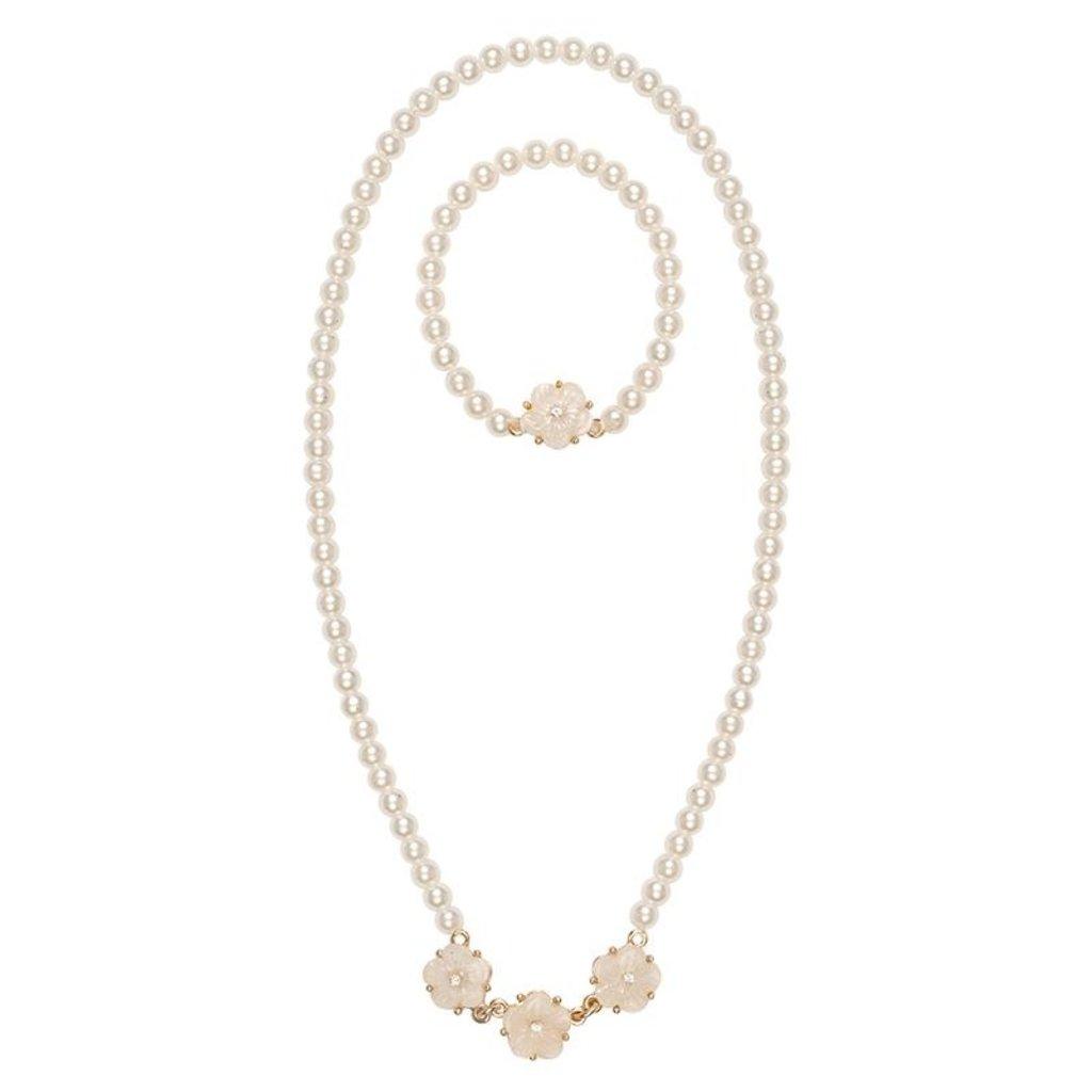 Great Pretenders Parure de bracelet avec collier de perles tournoyantes