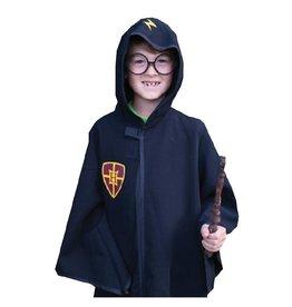 Creative Education Cape et lunettes de sorcier, noir, taille 5-6 ans