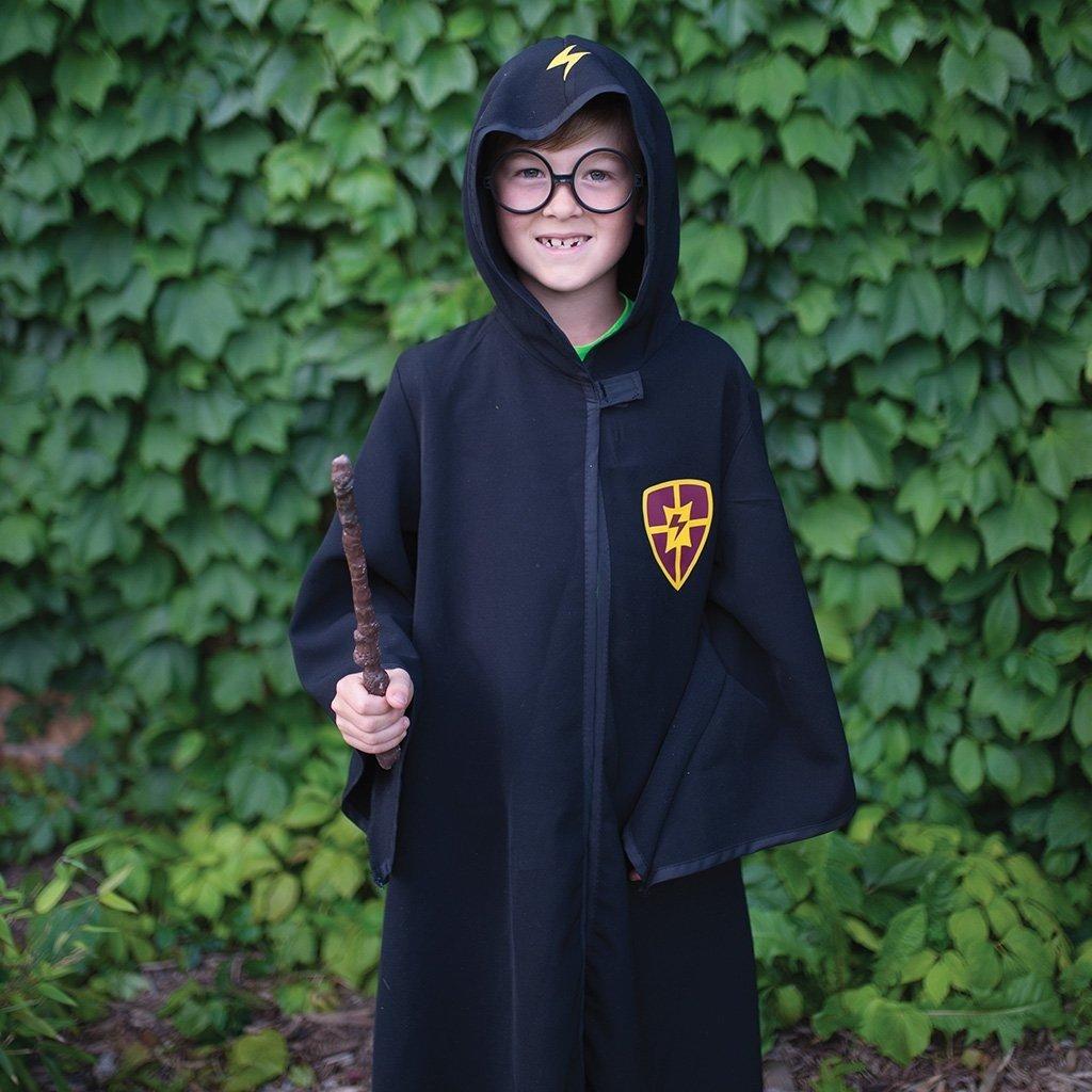 Great Pretenders Cape et lunettes de sorcier noir, taille 7-8 ans