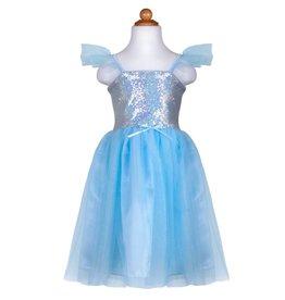 Great Pretenders Robe de princesse à paillettes, bleu, taille 3-4