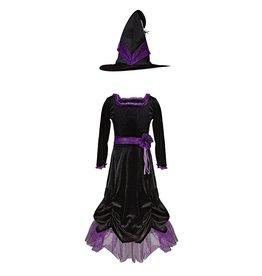 Great Pretenders Vera la sorciere,robe et chapeau en velours  3-4ans