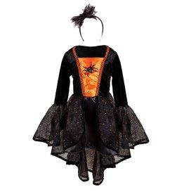 Great Pretenders Robe Sybil la sorcière araignée orange&noir 3-4 ans