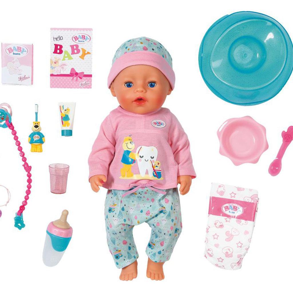 Zapf creation Baby Born- Poupée de bain interactive 43cm
