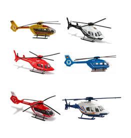 Majorette Hélicoptère Range 6 modèles assortis