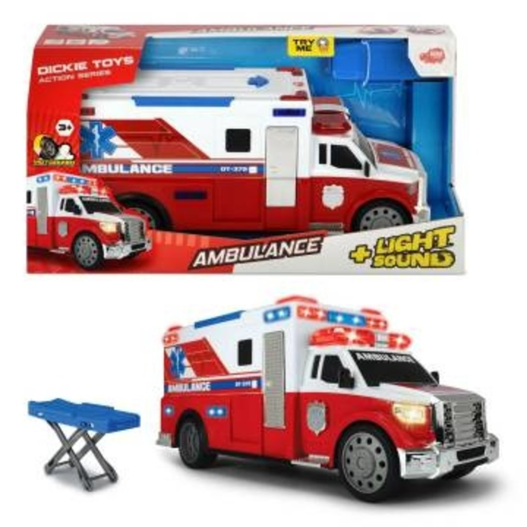 Dickie Action series- camion Ambulance Lumiere et sons