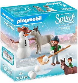 Playmobil La Meche et M. Carotte en hiver