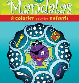 Boomerang 15 mandalas à colorier pour les enfants (pieuvre)