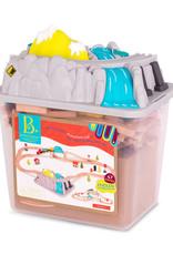 Battat Toys Woody - Ensemble de Train Wood & Wheels 47 pièces