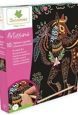 Sycomore Artissimo - GM 10 Tableaux à gratter Chevaux & Licornes