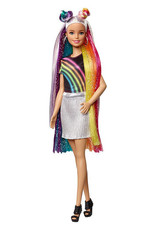 Mattel Barbie Chevelure Paillettes arc-en-ciel