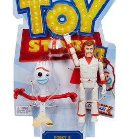 Mattel Toy Story 4 Ensemble de figurines d'action Forky et Duke Caboom