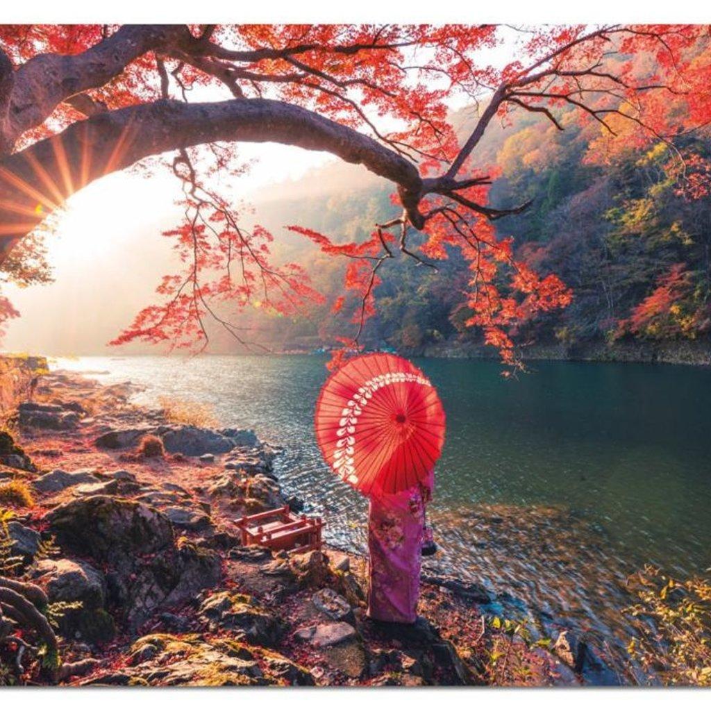 Educa Casse-tête 1000 pièces - Lever de soleil sur le fleuve Katsure, Japon