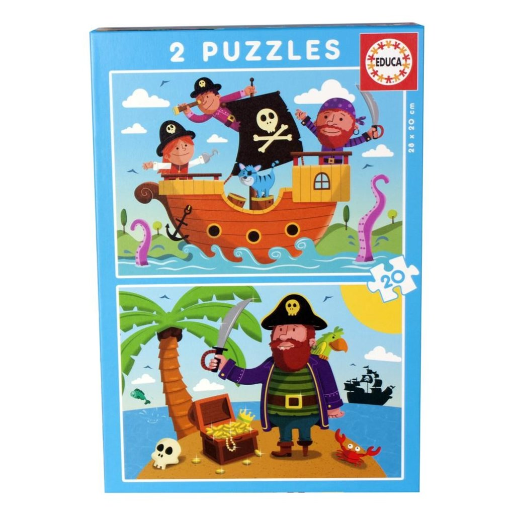 Educa Casse-têtes 2x20 pièces - Pirates