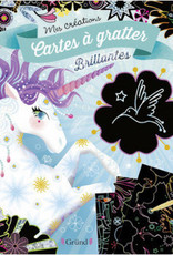 GRUND Cartes à gratter brillantes licorne