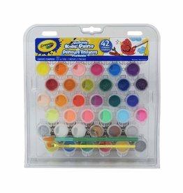 Crayola - Ens. 42 peintures pour enfant lavables