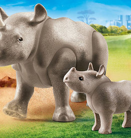 Playmobil 70357 Rhinocéros et sont petit