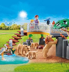 Playmobil 70343 Zoo I - Famille de lions et végéation