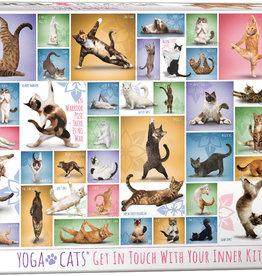 Eurographics Chats Yoga casse-tête 1000 pièces