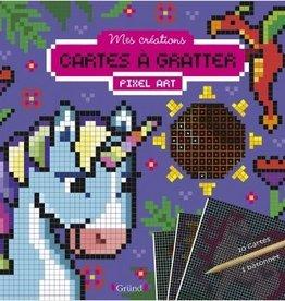 GRUND Créatures magiques : cartes à gratter pixel art