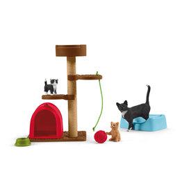 Schleich 42501 Divertissement pour chats mignons