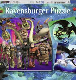 Ravensburger Apprivoiser les dragons 3x49pcs