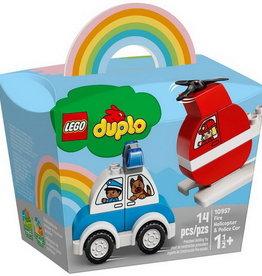 Lego Duplo 10957 L'hélicoptère des pompiers et la voiture de police
