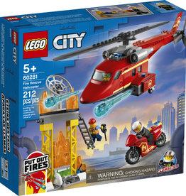 Lego City 60281 L'hélicoptère de secours des pompiers