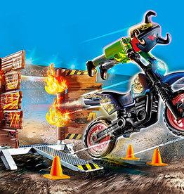 Playmobil 70553 Stuntshow Pilote de moto et mur de feu