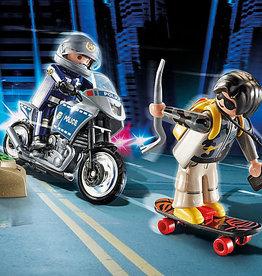 Playmobil 70502 Starter Pack Motard de police et voleur