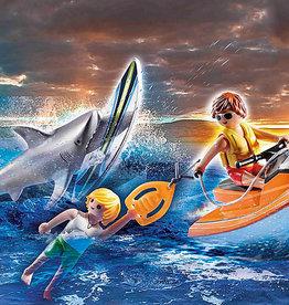 Playmobil 70489 Pilote de jet-ski et requin