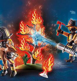Playmobil 70488 Pompiers et arbre en feu