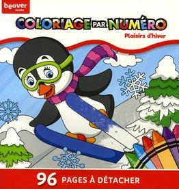 Beaver Books Coloriage par numéro - Plaisirs D'hiver