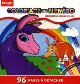 Beaver Books Coloriage par numéro - Adorable Lama et cie