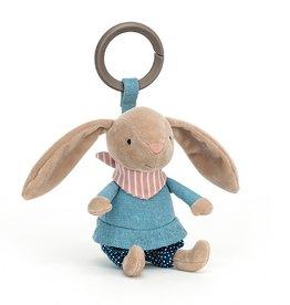 Jellycat Hochet petit  lapin randonneur