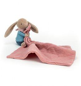 Jellycat Doudou en mousseline petit lapin randonneur