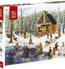 Trefl Genest - Hiver au chalet en bois rond  -1000pcs