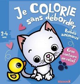 GRUND Je colorie sans débordéer: Bébés animaux 2-4 ans