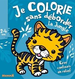 HEMMA Je colorie sans déborder: La jungle 2-4 ans